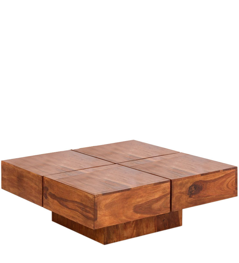 Low Height Solid Coffee Table By Wood Dekor By Wood Dekor Online Contemporary Furniture