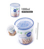 Lock&Lock Twist Transparent 1000 Ml Storage Container - Set of 2
