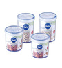 Lock&Lock Transparent 750 Ml Storage Container - Set of 4