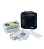 Lock&Lock Lunch Box Set with Black Bag, Spoon and Fork- 3Pieces