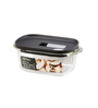 Lock N Lock Black Rectangle 550 ML Steam Oven Container