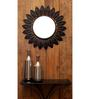 Logam Black Iron Leaf Wall Mirror