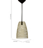 Logam Golden Iron Tall Cone Hanging Lamp