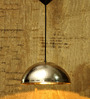Logam Nickel Plated Dome Pendant Light
