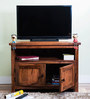 Logan Entertainment Unit in Warm Walnut Finish by Woodsworth