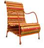 Love Chair in Shandes of Tangerine by Sahil Sarthak Designs