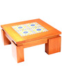 Low Height Mahabala Coffee Table in Apricot Colour by Furnicheer