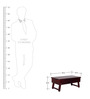 Oakville Low Height Solid Wood Study & Laptop Table in Passion Mahogany Finish by Woodsworth