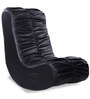 Low Seat Rocking Chair in Black Leatherette by Durian