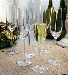 Lucaris Shanghai Soul Champagne Crystal 250 ML Flute Glasses - Set of 6