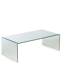 Lucida Waterfall Coffee Table In Transparent Finish By HomeHQ