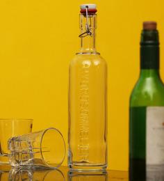 Luigi Bormioli Hydrosommelier Clear Bottle 1000 ML with Hermetic Inox-Cap