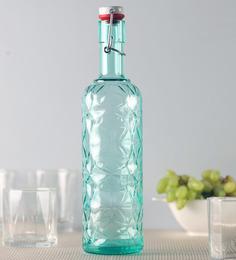Luigi Bormioli Prezioso Green Bottle 1000 ML with Hermetic Inox-Cap