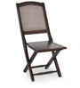 Luisa Folding Chair in Walnut Finish by @ Home