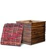 Luke Box Pouffe in Walnut Colour by InLiving