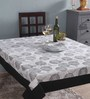Lushomes 4 Seater Geometric Black Cotton Table Cloth