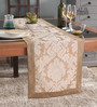 Lushomes Beige Jacquard Runner with High Quality Border