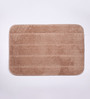 Lushomes Beige Polyester Bath and Contour Mat - Set of 2