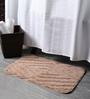 Lushomes Beige Polyester 16 x 24 Bath Mat