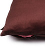 Lushomes Brown Polyester 12 x 12 Inch Cushion Covers - Set of 5