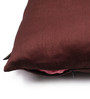 Lushomes Brown Polyester 16 x 16 Inch Cushion Covers - Set of 10