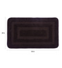 Lushomes Brown Polyester 20 x 32 Bath Mat