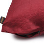 Lushomes Burgundy Polyester 12 x 12 Inch Cushion Covers - Set of 5
