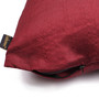 Lushomes Burgundy Polyester 16 x 16 Inch Cushion Covers - Set of 10
