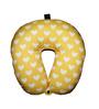 Lushomes Digital Printed Polyester Light Yellow Neck Pillow