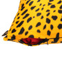 Lushomes Golden Yellow Polyester 16 x 16 Inch Leopard Skin Printed Cushion Covers - Set of 2
