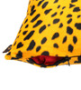Lushomes Golden Yellow Polyester 16 x 16 Inch Leopard Skin Printed Cushion Covers - Set of 5