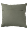 Lushomes Green Cotton 16 x 16 Inch Cushion Covers with Silver Foil Print - Set of 2