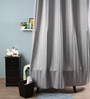 Lushomes Grey Polyester 82 x 72 Shower Curtain