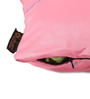 Lushomes Light Pink Blackout Polyester 16 x 16 Inch Cushion Cover with Artistic Stitch - Set of 2