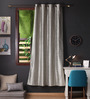 Lushomes Metal Polyester 90 x 54 Inch Twinkle Star 8 Eyelets Door Curtain with Blackout Lining - Set of 2