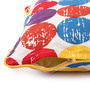 Lushomes Multicolour Cotton 12 x 12 Inch Titac Printed Cushion Covers with Co-Ordinating Cord Piping - Set of 2