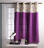 Lushomes Multicolour Cotton 60 x 54 Inch Bold Printed Bloomberry Windows Curtain with 8 Eyelets & Printed Tiebacks - Set of 2