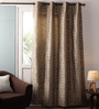 Lushomes Multicolour Jacquard 54 x 90 Inch Door Curtains with Eyelets - Set of 2