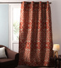 Lushomes Multicolour Jacquard 54 x 90 Inch Door Curtains with Lining - Set of 2