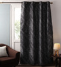 Lushomes Multicolour Jacquard 54 x 90 Inch Door Curtains with Lining & Eyelets - Set of 2