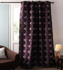 Lushomes Multicolour Jacquard 54 x 90 Inch Solid Door Curtains with Lining - Set of 2