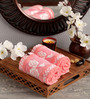 Lushomes Pink Cotton 16 x 24 Hand Towel - Set of 2