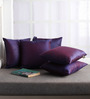 Lushomes Purple Polyester 12 x 12 Inch Cushion Covers - Set of 5