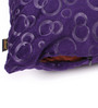 Lushomes Purple Polyester 12 x 12 Inch Embossed Blackberry Cushion Cover - Set of 2