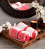 Lushomes Red Cotton 16 x 24 Hand Towel - Set of 2