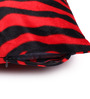 Lushomes Red Polyester 12 x 12 Inch Tiger Skin Printed Cushion Covers - Set of 3
