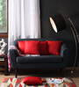 Lushomes Red Polyester 16 x 16 Inch Cushion Covers - Set of 5