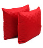 Lushomes Red Polyester 16 x 16 Inch Embossed Blackberry Cushion Cover - Set of 2