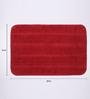 Lushomes Red Polyester 16 x 24 Bath Mat