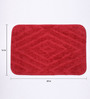 Lushomes Red Polyester 16 x 24 Bath Mat